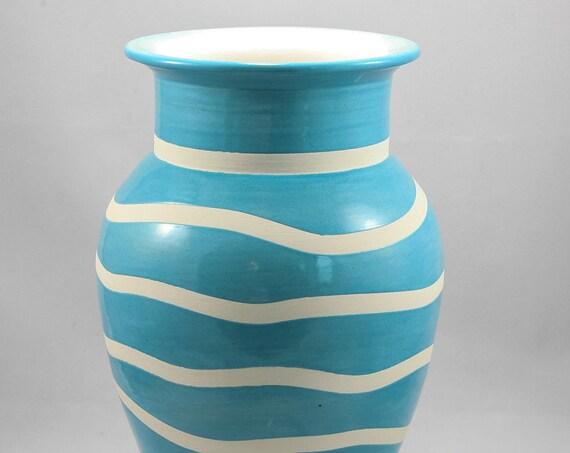 Modern Green and White Vase