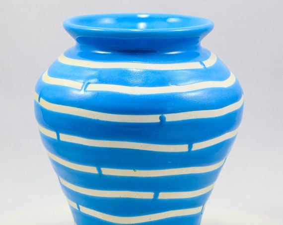 Blue Water, White Sands 2 Vase