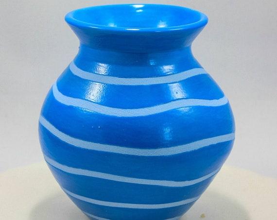 Brilliant Blue on Blue Bud Vase