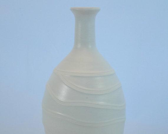 Matte Alabaster on White Bottle Vase