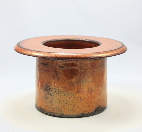 Ikebana Vase Copper Top Hat