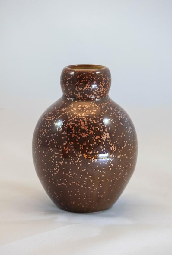 Deep Starry Copper Bud Vase