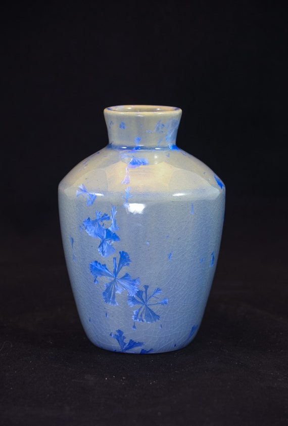 Crystalline Blue & Soft Blue Bud Vase