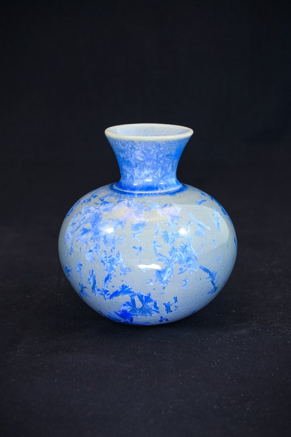 Exquisite Crystalline Blue Vase - I