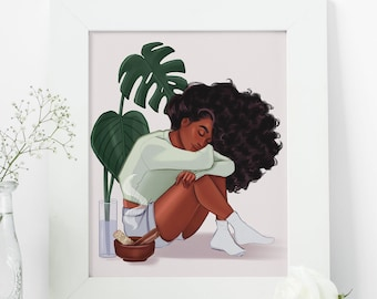 Invest in Your Rest - African American Fashion Illustration Art Print