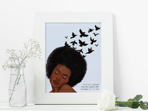 Release - African American Fashion Illustration Art Print