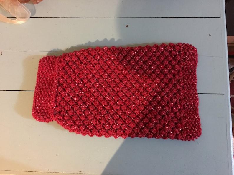Handmade knit dog sweater