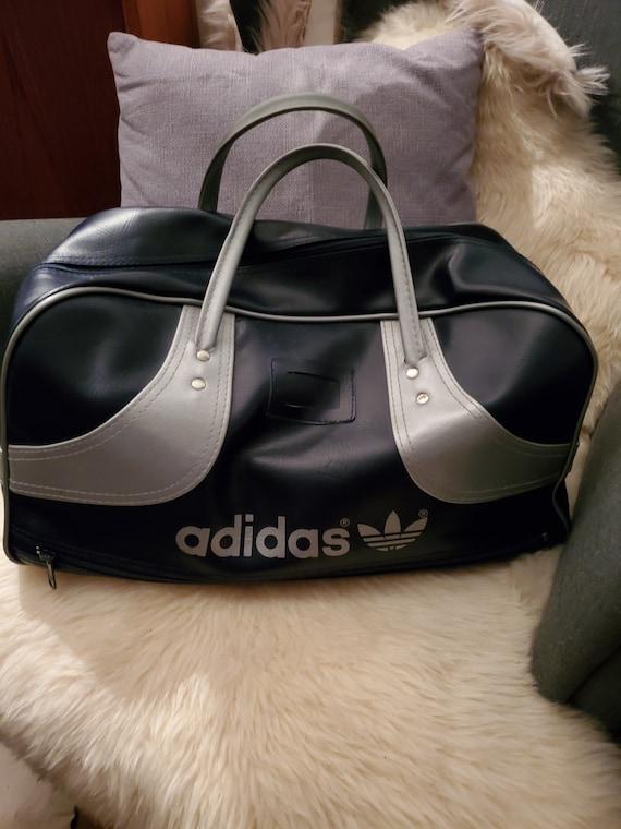 Vintage Adidas bag/vinyl sports bag/trefoil/large