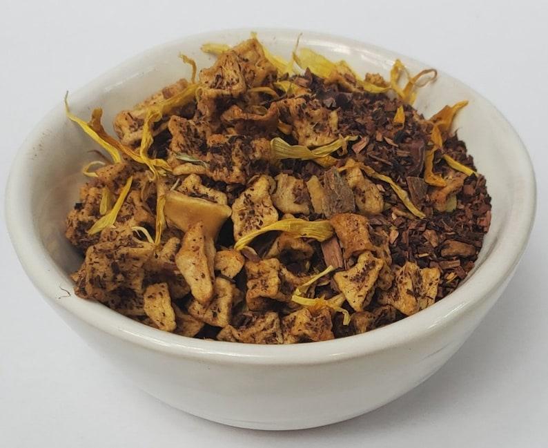 Honeybush Banana Nut Tea Herbal Loose Leaf Tea Apple Marigold image 0