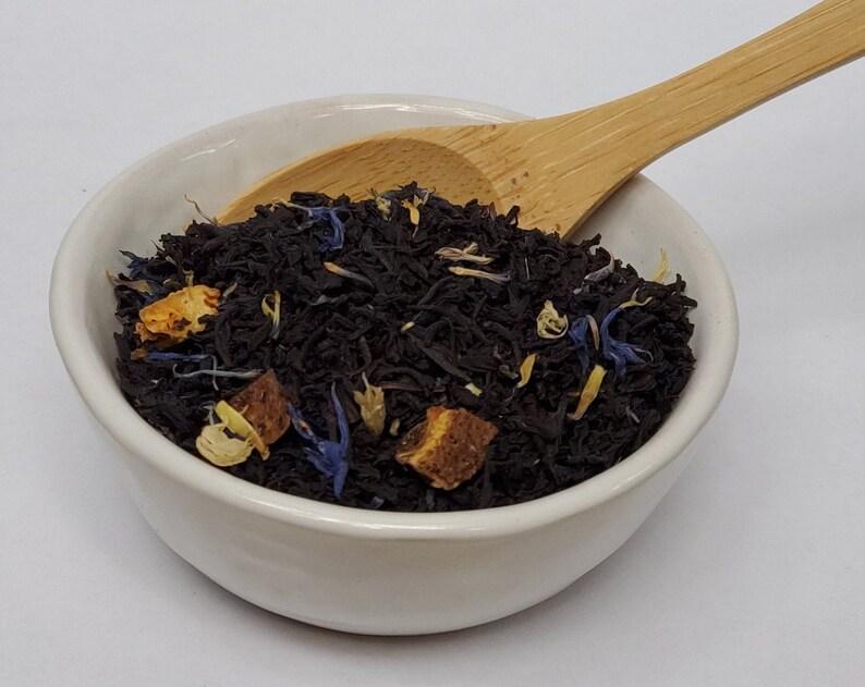 Earl Grey Creme Loose Leaf Tea Bergamot Cornflower image 0