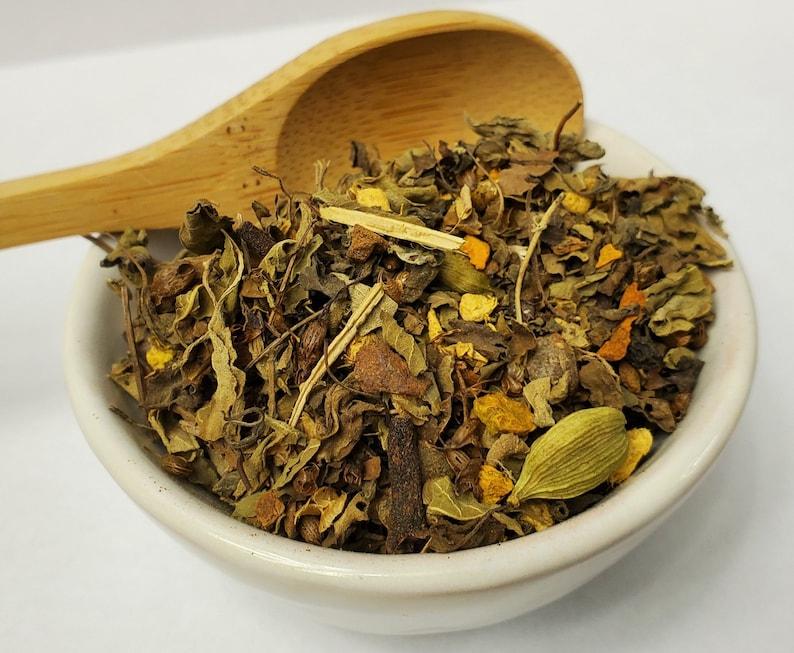 Tulsi Turmeric Ginger  Loose Leaf Tea  Holy Basil image 0