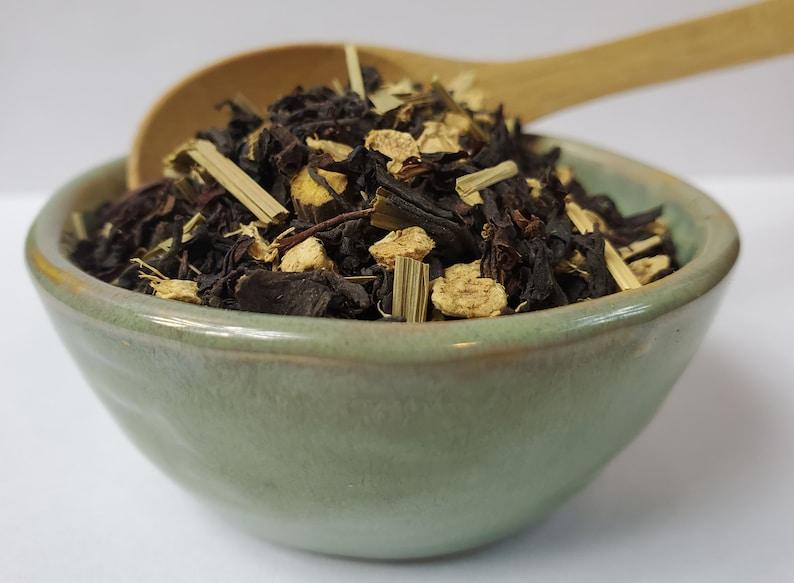 Lemon Ginger Chai Loose Leaf Tea Licorice Root Peppermint image 0