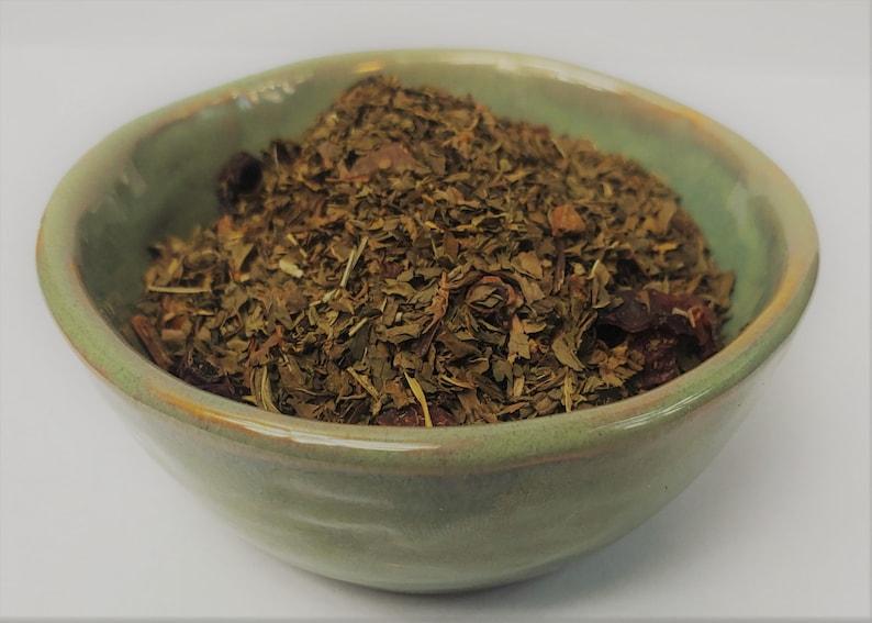 Herbal Spicy Mint Loose Leaf Tea Spearmint Rose Hips Vitamin C image 1