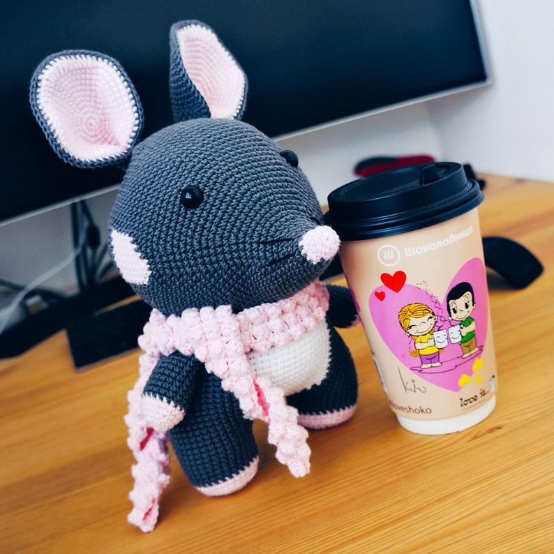 PDF Pattern Mouse Rikky 25 cm  / Amigurumi image 0