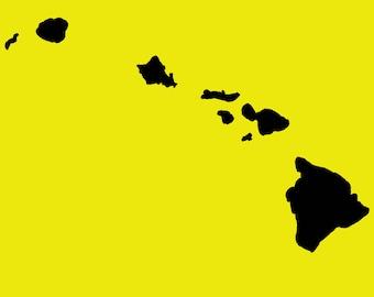 Hawaii Islands Instant Download SVG, PNG, EPS, dxf, jpg digital download