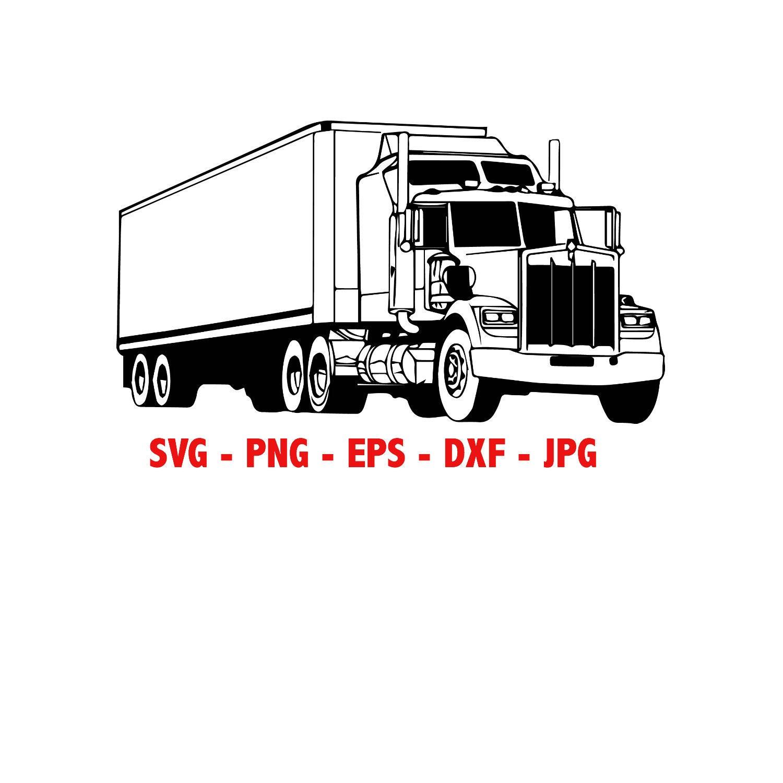 Semi Truck Instant Download SVG, PNG, EPS, dxf, jpg digital download