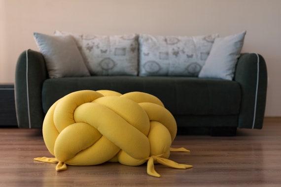 floor cushion Modern pouf floor pillow pouf pouf ottoman LargeXL knot Floor Cushion sit cushion pillow Knot Floor Pillow pouf