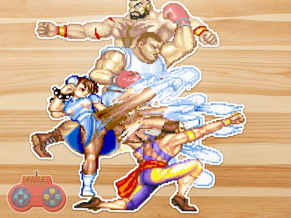 Street Fighter 2 Vinyl Sticker Set 3 Chun Li Vega Zangief Balrog