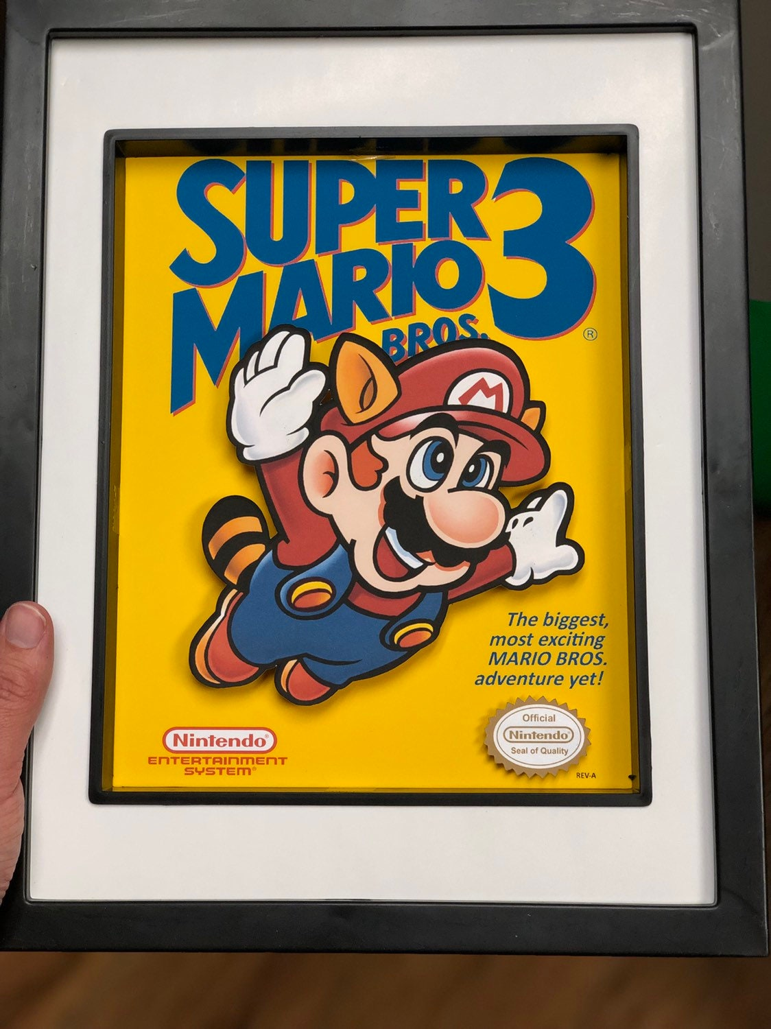 Super Mario Bros 3 Shadow Box- NES- Mario- Mario Bros- 8x10