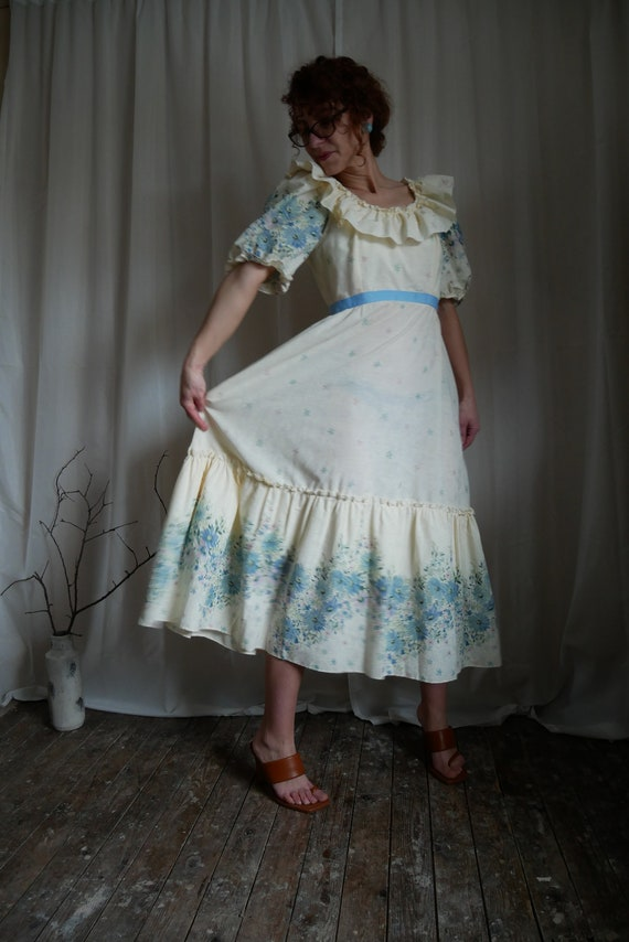 Vintage 80's puff sleeve prairie dress