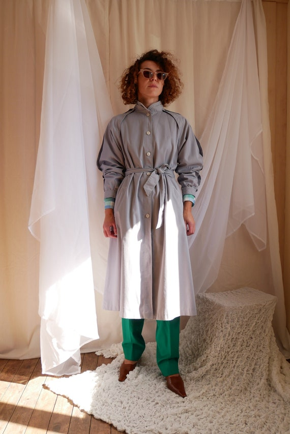 Vintage 80's midi belted trench coat 4 Seasons of