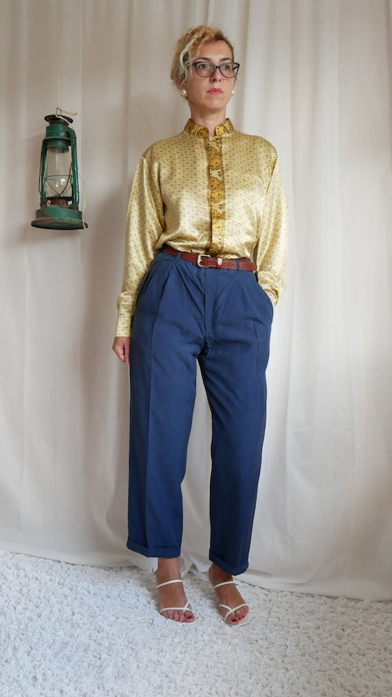 Vintage Indonesian golden tunic blouse | Luis Vuit