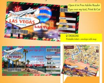 Vegas Boarding Pass Etsy