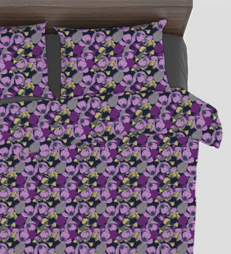 Oriental Pond Print Fabric by the Yard with Material of Your Choice cotton included!