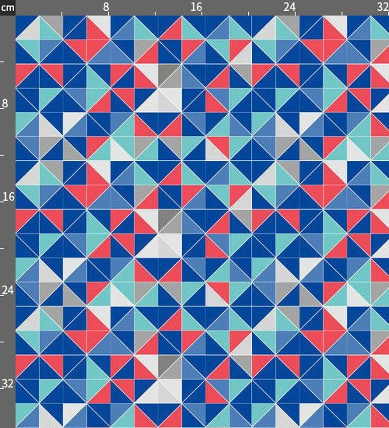 cotton included! Square Matrix Print Fabric by the Yard with Material of Your Choice
