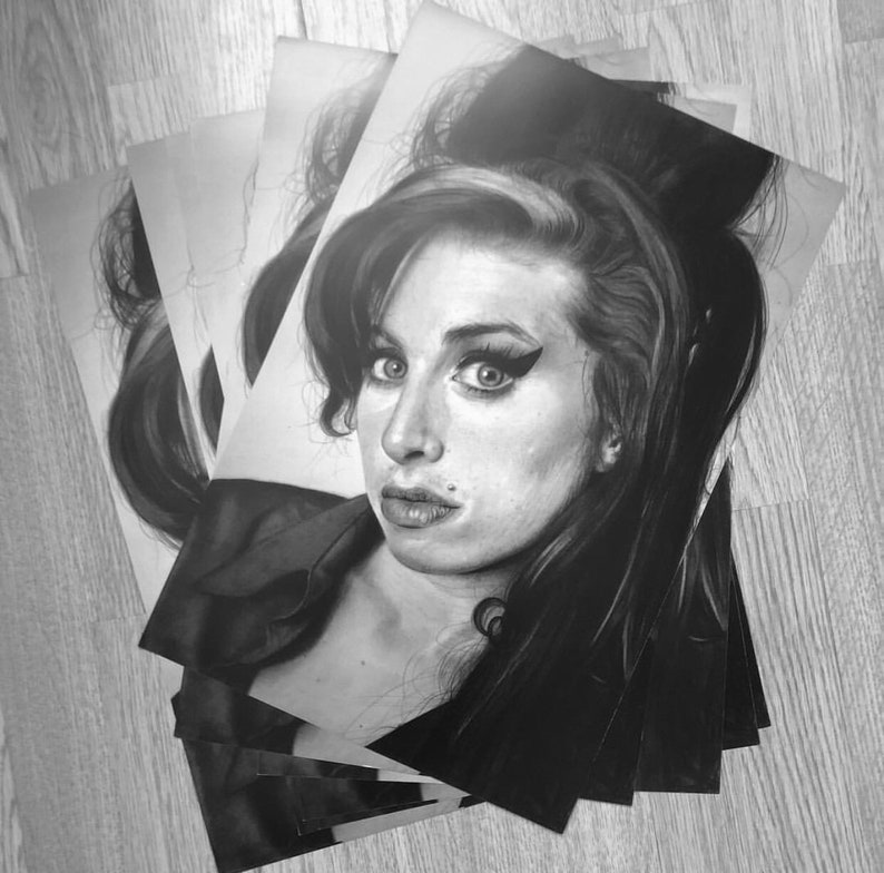 Print Of My Amy Winehouse Drawing Etsy