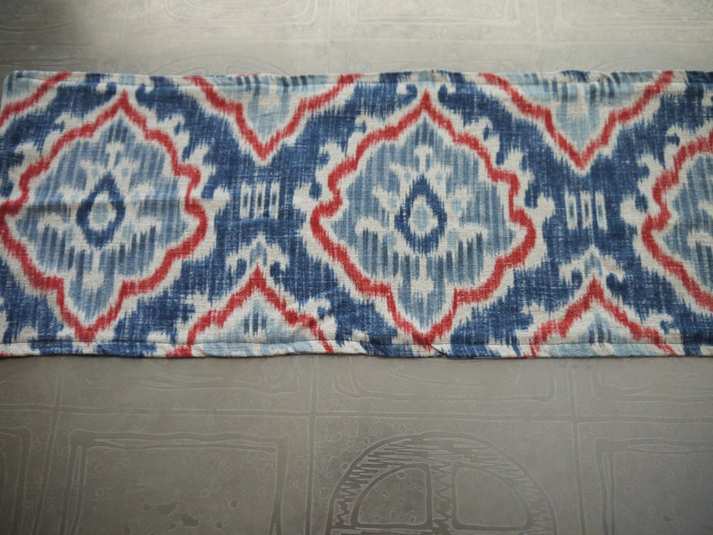 Blue and Red Table Runner