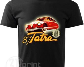 Mens retro t-shirt Tatra 87 classic car 100% cotton 71fc8f750