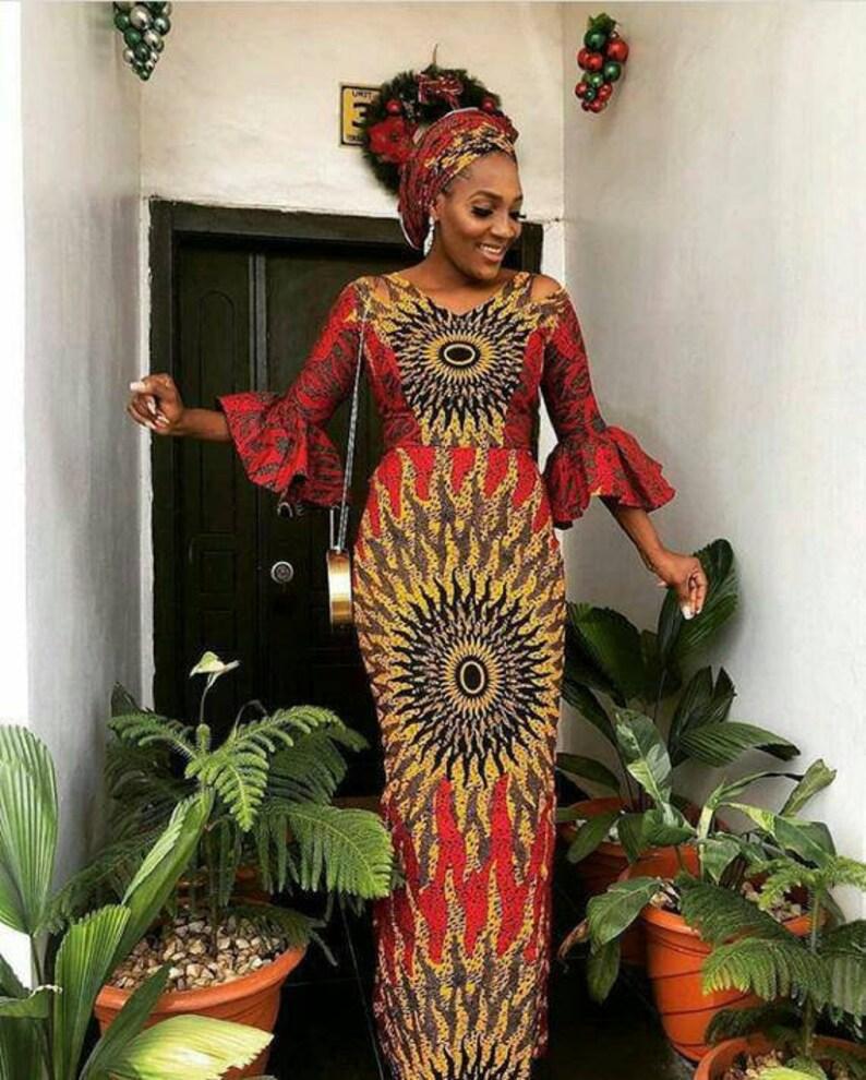 African dress Ankara dress African clothing for women African print dress