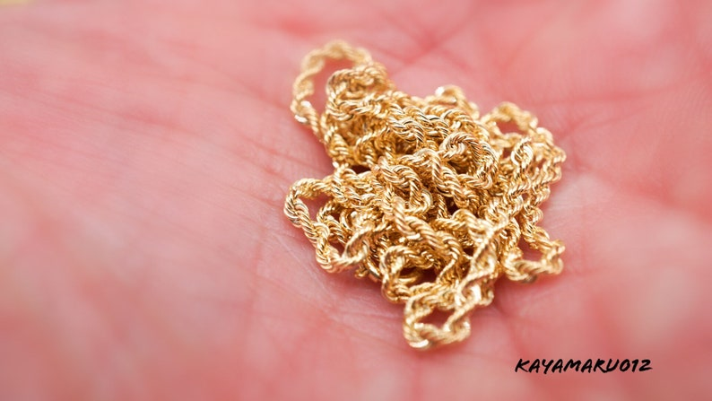 Hot 14k Gold Glitter Rope Chain Necklace