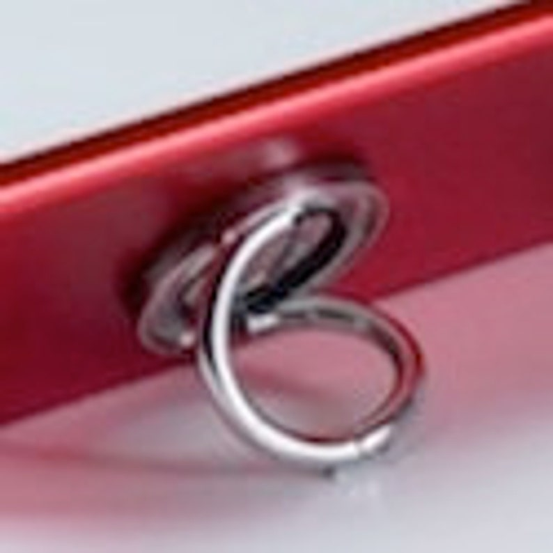 i-Ox Smartphone Grip Ring / Holder / Stand in Red - High Quality Stainless  Steel