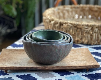 Set of Four Nesting Pinch Bowls