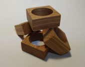 Napkin ring SET OF 4 wood napkin holder Napkin holder Wood napkin holder square for napkin wedding table decoration table decor