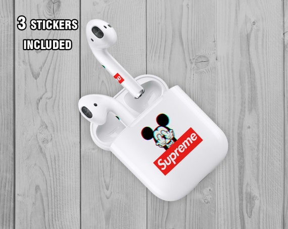 Inspired by Supreme AirPod Skin Supreme Miskey Mouse AirPod Stickers Apple  Decal Miskey Mouse AirPod Supreme AirPod skin Supreme logo Skin
