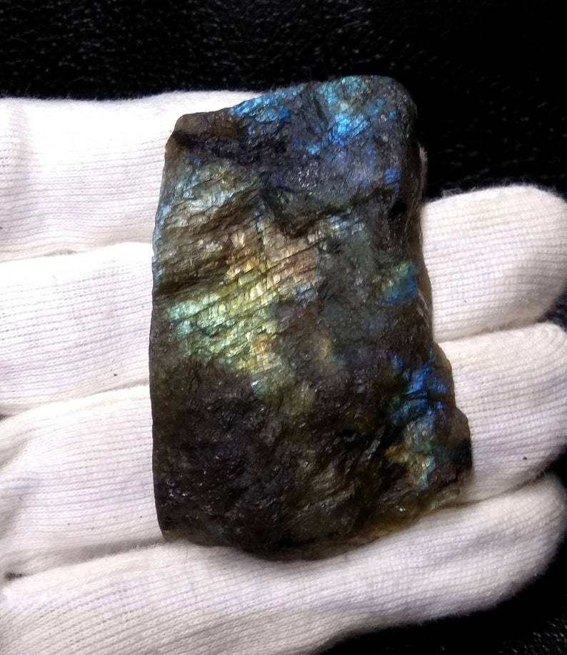 169.85 Cts Labradorite Raw Stone,Labradorite Slab Polished Rough Gemstone,Cutting Labradorite Rough,Flashy Labradorite,57x28x9 MM,S#1028