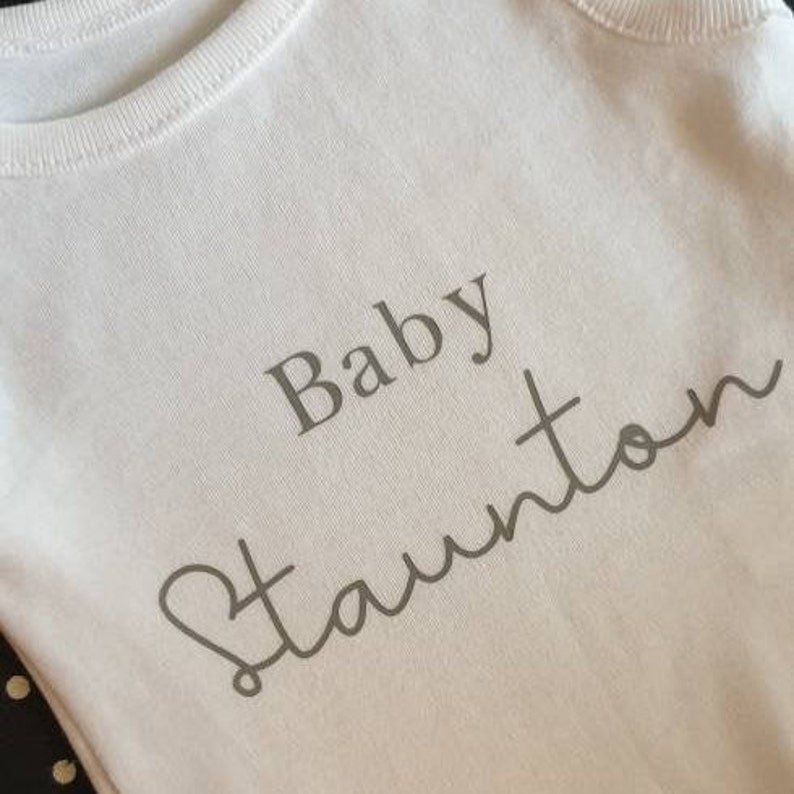 Baby Shower Gift Pregnancy Announcement Personalised Baby Grow