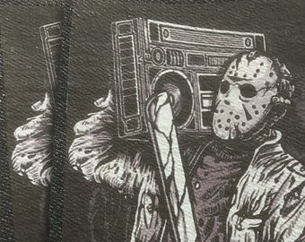 Jason ,killer Music ,Friday The 13th Transfer Patches for Denim on Heavy Cotton Sew on only
