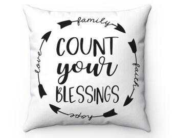 Pillow Faith Love Etsy