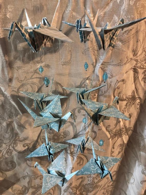 Origami crane mobile | Etsy | 760x570