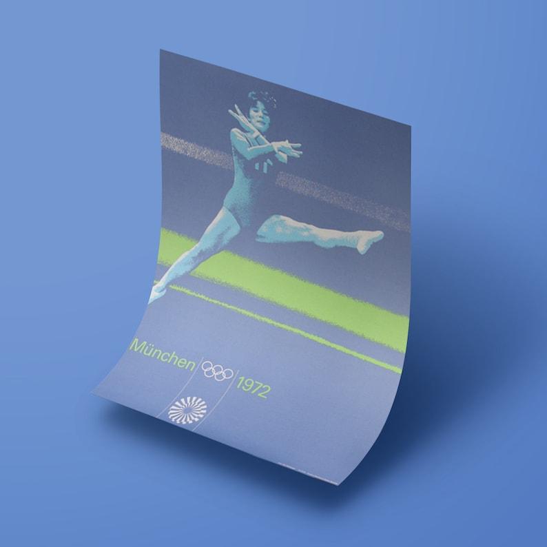 A1 1972 Munich Olympics Gymnastics Original Poster