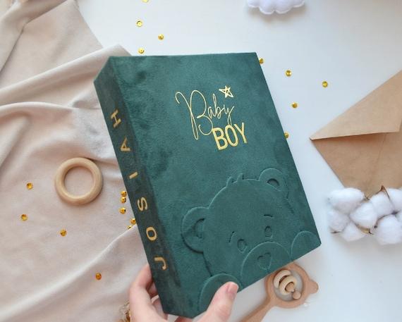 Personalized baby photo album 4x6 - Custom baby memory book - Baby keepsake book - Gift for newborn boy