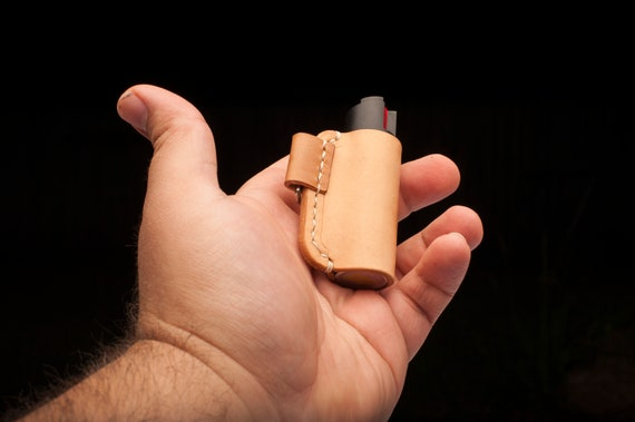 Leather pepper spray holder