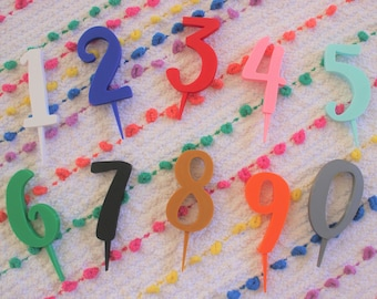 10 Number Candles 0 9 Cake Toppers 1 Year Old Sweet 16 18th Birthday 21st 25th 30th