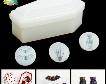 TEUN Resin Silicone Molds Epoxy Casting Mold Jewelry Storage Box Molds with Lid for Making Decoration DIY Crafts Stripe Organizer
