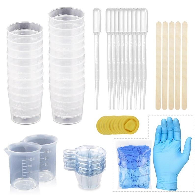 100pcs Measuring Epoxy Kit Plastic Manual Stirring Sticks for Paint Mixing Stain