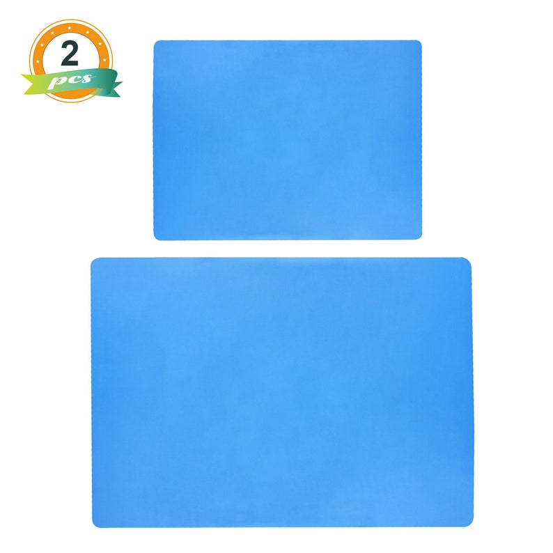 2PCS Silicone Sheet Silicone Mats for Crafts Resin Jewerly Casting,Cup Turner Protector,Polymer Clay DIY- E4-GJDLJT-K